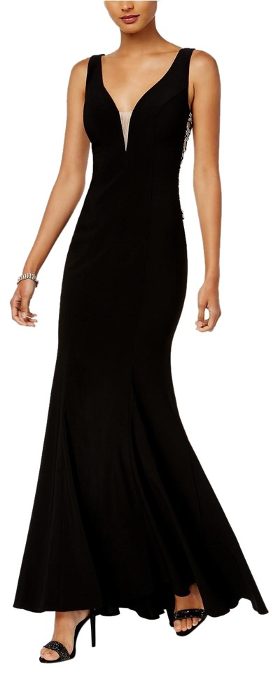 40d19b64 Xscape Black Embellished Cutout Gown Long Formal Dress Size 4 (S ...