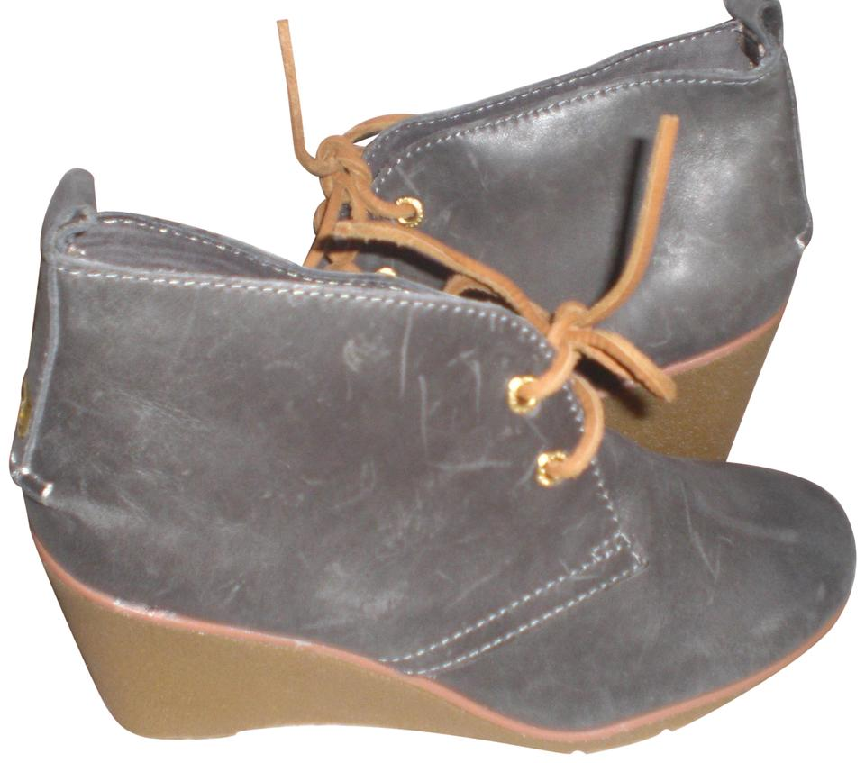 52bd82ffa36 Sperry Gray Top Sider Harlow Wedge Ankle Boots Booties Size US 7 ...