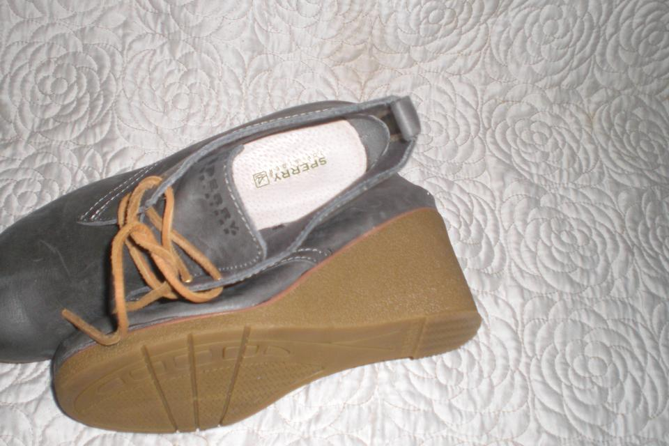 8ddcfab8113 Sperry Gray Top Sider Harlow Wedge Ankle Boots Booties Size US 7 ...