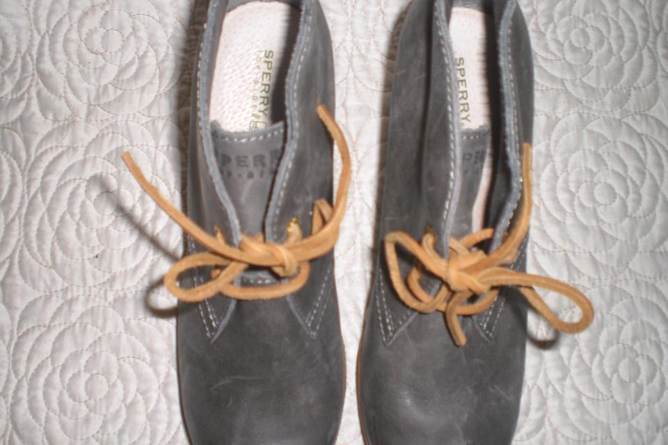 55bdf5a09a2 Sperry Gray Top Sider Harlow Wedge Ankle Boots Booties Size US 7 Regular  (M