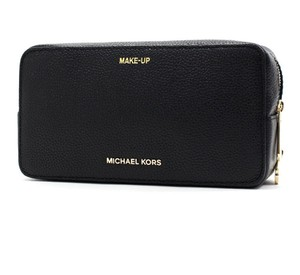 Michael Kors Mk Leather Cosmetic Bags Cherry 190049797679 Wristlet in black