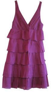 J.Crew Silk Tiered Ruffle Chiffon Dress