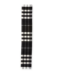 Burberry AUTHENTIC NEW Burberry Half Mega Check Cashmere Scarf black and white