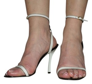 Michel Vivien Sexy Minimalist White Leather Sandals