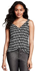 Banana Republic Top Black and White Print