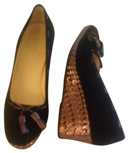 Bruno Magli Black Wedges