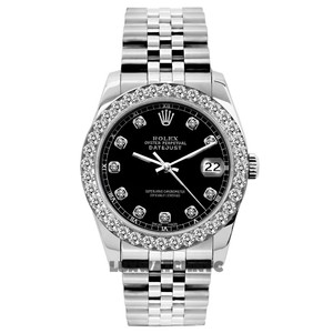 Rolex 1.3ct Ladies Datejust S/S with Box & Appraisal Watch