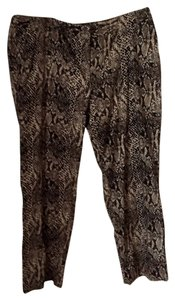 Rafaella Straight Pants Animal Print