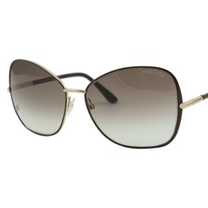 Tom Ford New Solange Ft-0319-28f Women Gold Metal Oversize Butterfly Sunglasses