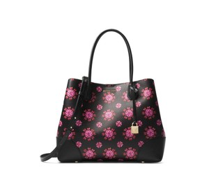 Michael Kors Mercer Tote in black ultra pink