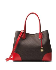 Michael Kors Mercer Tote in brown red
