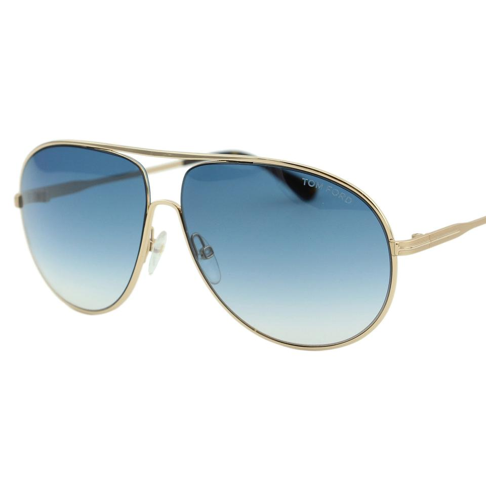 2a02c80bdc558 Tom Ford New Cliff Ft-0450-28p Men Metal Aviator Sunglasses Image 0 ...