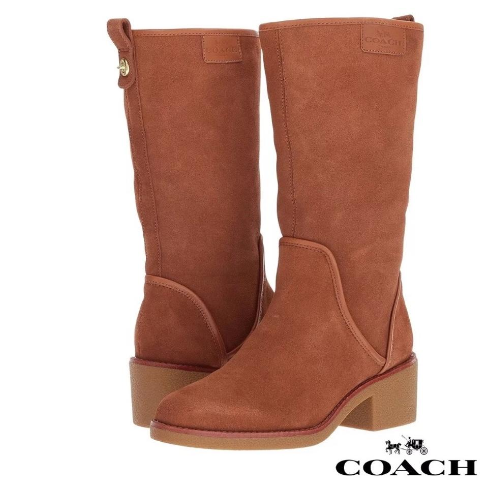 1875d51abe9c4 Coach Brown New Palmer Closed Toe Mid-calf Fashion Boots Booties ...