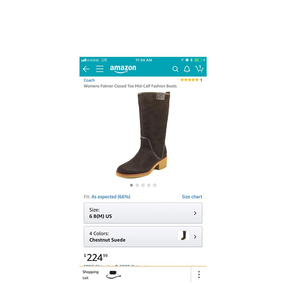 2b1144c749ba7 Coach Brown New Palmer Closed Toe Mid-calf Fashion Boots Booties Size US 6  Regular (M