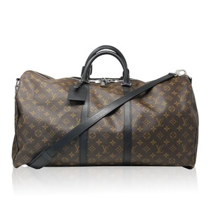 Louis Vuitton Macassar Keepall 55 Luggage brown Travel Bag