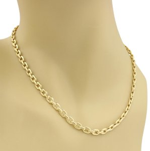 Cartier - 18k Yellow Gold 5mm Wide Flat Oval Link Necklace w/Certificate