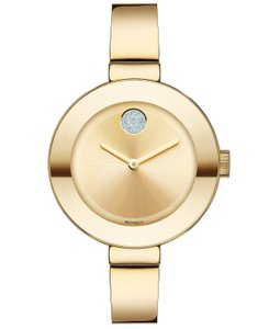 Movado Movado 3600201 Swiss Bold Ion-Plated Stainless Steel Bangle Bracelet