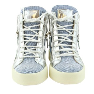 Giuseppe Zanotti Sneakers High-top Sneakers High-top White Donna Blue & Silver Athletic