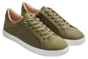Topshop Sneakers Athleisure Fashion Trendy Olive Green Athletic