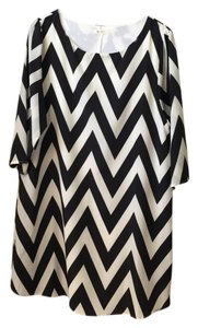 Everly short dress Black/White Chevron on Tradesy