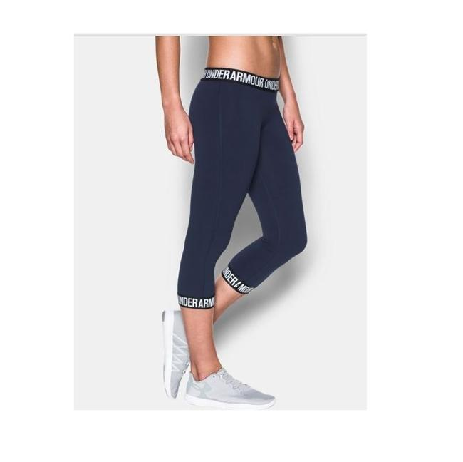 Item - Navy Blue/White 1287130-411 Women's Power Logo Capri S Activewear Bottoms Size 4 (S, 27)