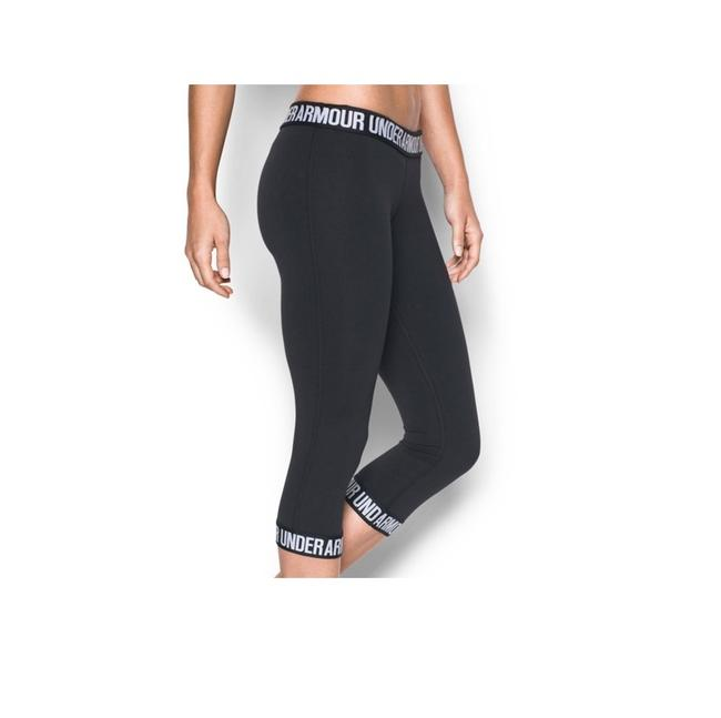 Item - Black/White 1287130-001 Women's Power Logo Capri S Activewear Bottoms Size 4 (S, 27)