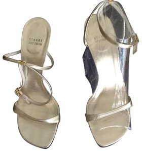 32c8b7657b8e Gold Stuart Weitzman Sandals - Up to 90% off at Tradesy