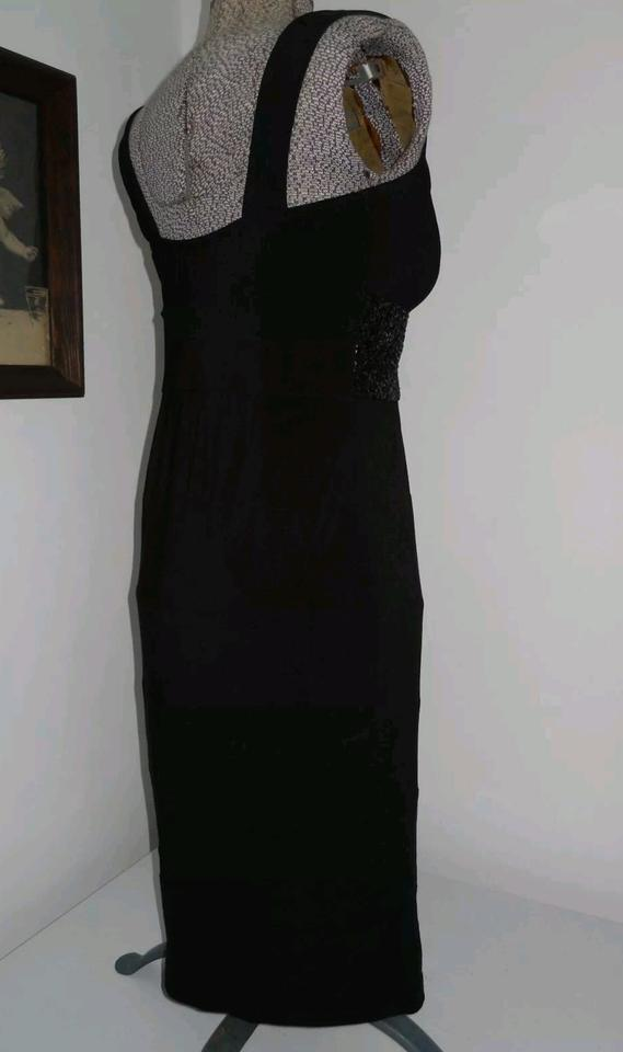 713f27ea0f dressbarn Black Sequin Top Sleeveless Sweetheart Neck Gown Pull Mid-length  Night Out Dress Size 6 (S) - Tradesy