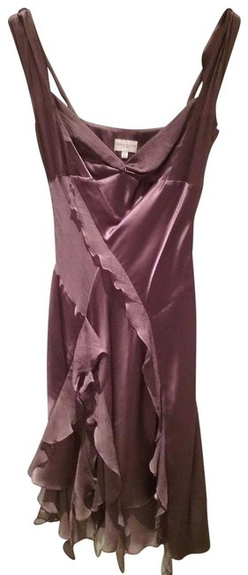Item - Chocolate Brown Purple Party Mid-length Cocktail Dress Size 8 (M)
