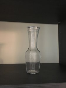 """Anthropologie Glass Crystal Vase 9"""" Tall Decoration"""
