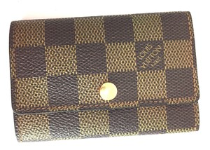 Louis Vuitton Damier Ebene Trofold 6 Ring Key Holder monogram