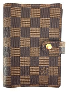 Louis Vuitton Damier Ebene 6 Ring agenda pm check book wallet holder card
