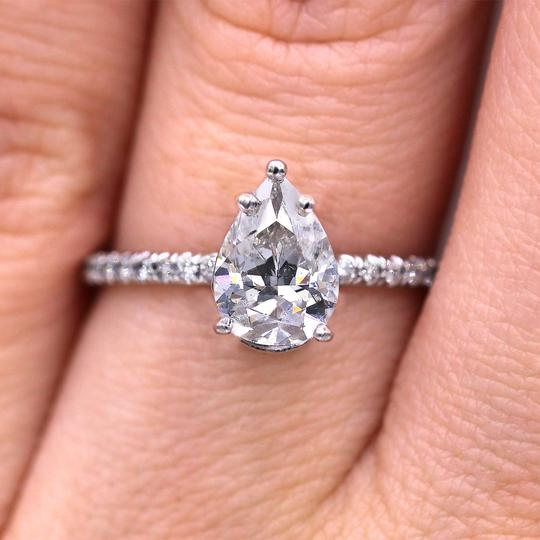 Preload https://img-static.tradesy.com/item/22981584/petite-and-elegant-pear-cut-diamond-ringgia-certified-engagement-ring-0-0-540-540.jpg