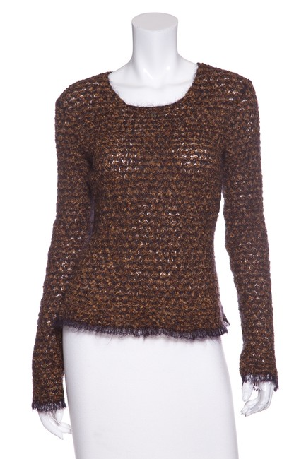 Preload https://img-static.tradesy.com/item/22981825/chanel-open-knit-long-sleeve-brown-sweater-0-0-650-650.jpg