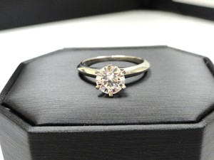 9c1a413c6 Tiffany & Co. H Vs1 Co Plat Round Diamond Solitaire 1.06ct Engagement Ring