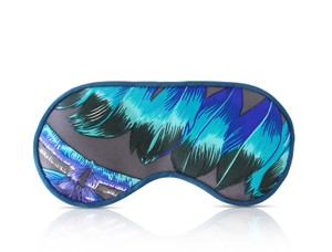 Hermès Hermes Sleep Eye Mask Multicolor Silk Petite h in Blue and Brown