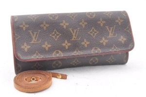 Louis Vuitton Monogram Pochette Twin Gm Shoulder Pouch Cross Body Bag