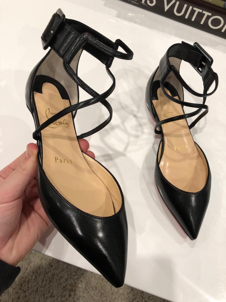 brand new 59815 a263a Christian Louboutin Black Suzanna Strappy Pointed Ballerina Ballet Flats  Size EU 35 (Approx. US 5) Regular (M, B) 29% off retail