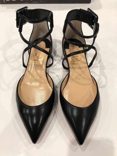 new arrivals b5f40 04f74 Christian Louboutin Black Suzanna Strappy Pointed Ballerina Ballet Flats  Size EU 41 (Approx. US 11) Regular (M, B)