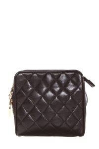 Chanel Square Quilted Waistbag Wristlet in Black