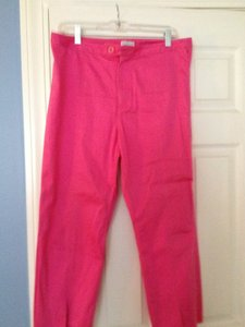CAROLINA BLUES Stretch Straight Pants DEEP PINK