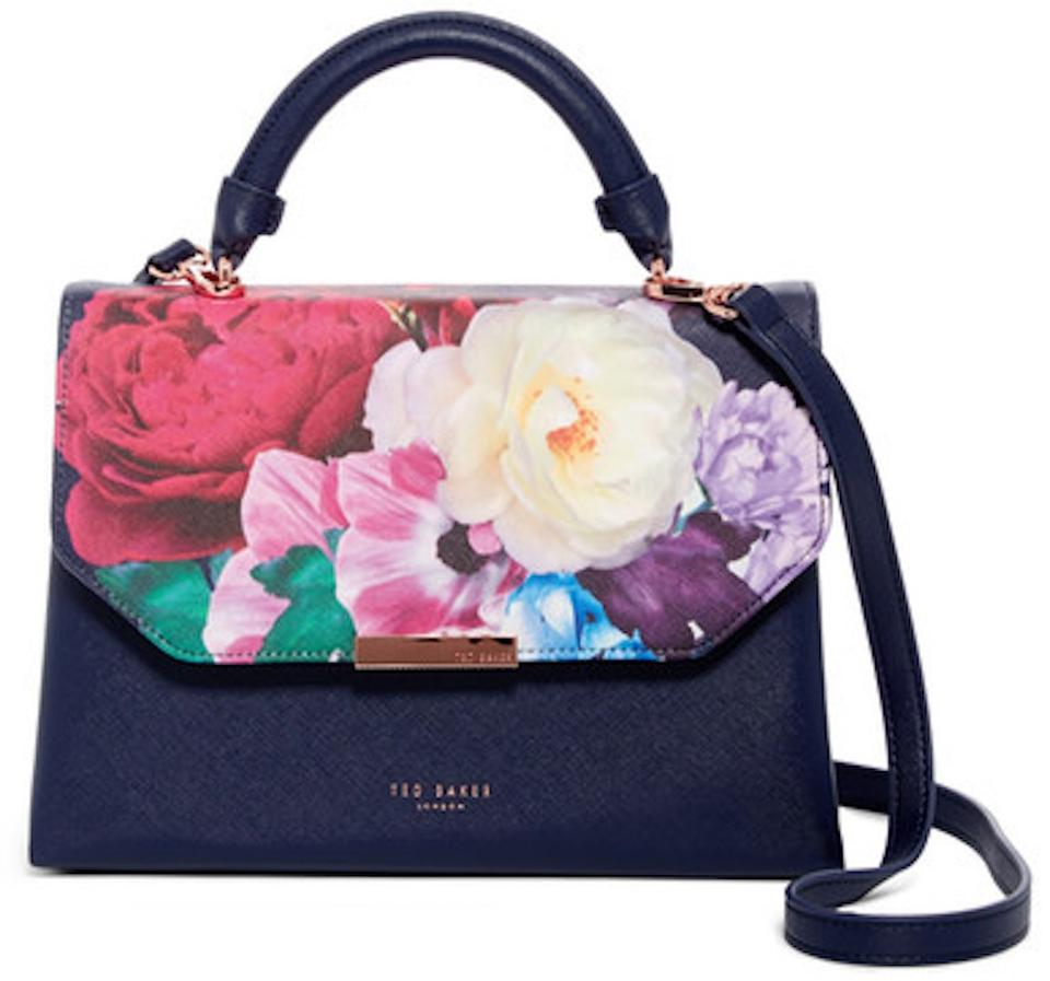 Ted baker convertible satchel navy floral faux leather cross body ted baker cross body bag mightylinksfo
