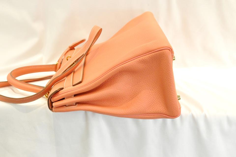 a8d23f102656 Hermès Kelly Crevette Taurillon Clemence 35 Pink Leahter Tote - Tradesy