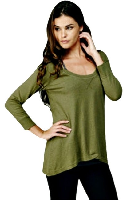 Preload https://item1.tradesy.com/images/c-and-c-california-olive-hemp-blend-34-sleeve-hi-low-sweatshirt-sweaterpullover-size-4-s-2298250-0-0.jpg?width=400&height=650
