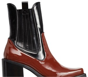 Jeffrey Campbell BLACK/ BROWN PATENT LEATHER Boots