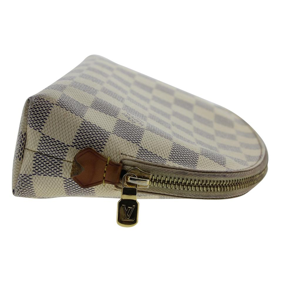 e8b68c721847 Louis Vuitton Louis Vuitton Damier Azur Pochette Cosmetic Zippy Makeup Pouch  N23346 Image 9. 12345678910