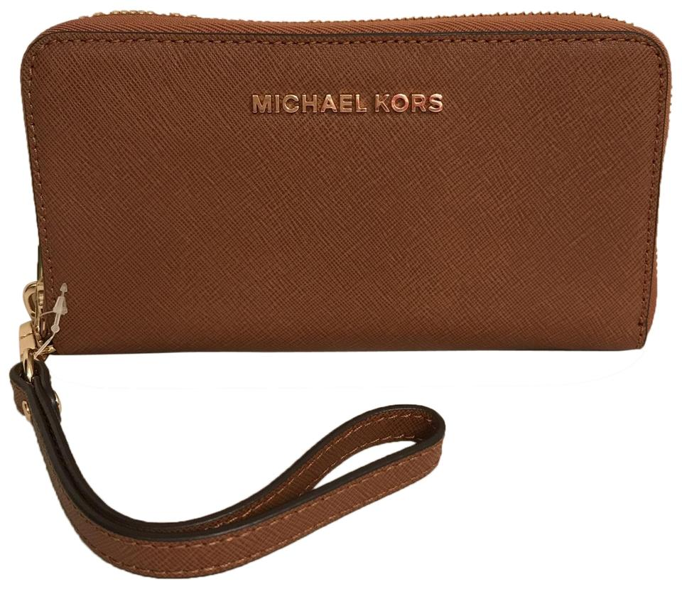 09661dbc72d71a Michael Kors Purse Clutch Wallet Night Out Wristlet in Brown Tan Image 0 ...