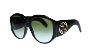 Gucci Gucci Women's Sunglasses GG0151 001 Black Green With Gradient Lens