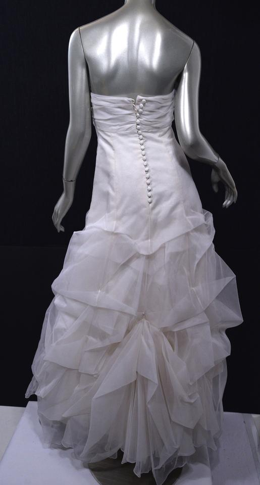 White silk nyc custom made strapless gown modern wedding for Custom made wedding dresses nyc