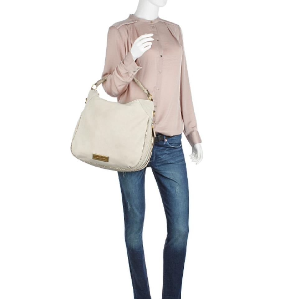 Beige Marc by Multi Leather Pale Marc Jacobs Tote Taupe Suede Billy H4q0H7w